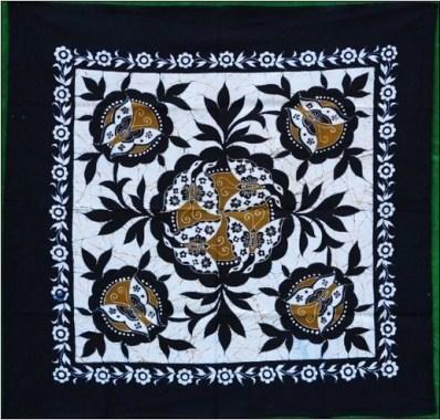 Motif batik bunga untuk taplak meja