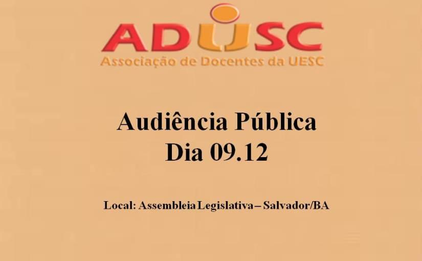 Audiência Pública acontece nessa terça-feira (9)