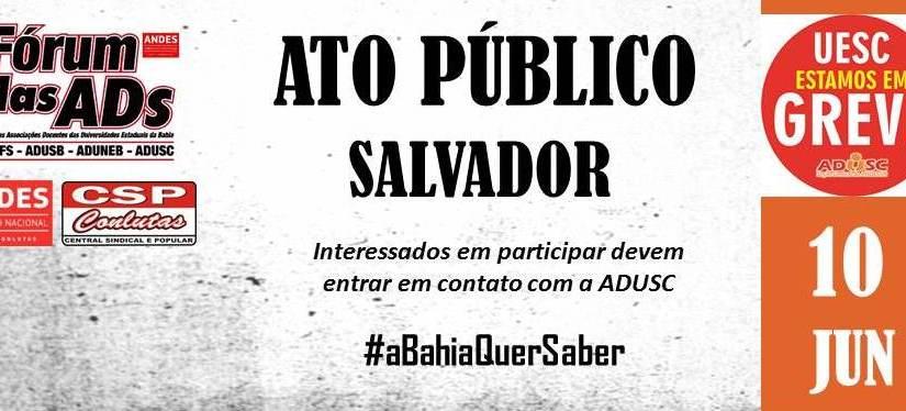 Reunião ampliada reforça agenda de mobilização na UESC e convite para ato público em Salvador