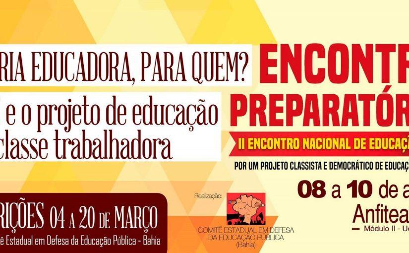 Comitê local de luta pela educação realiza atividade no CIOMF