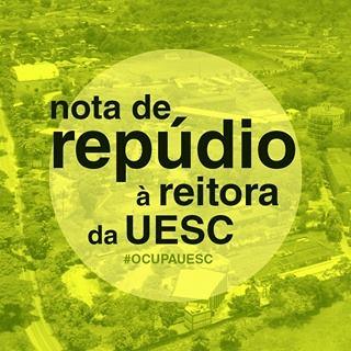 Movimento #OcupaUESC lança nota em repúdio à reitoria