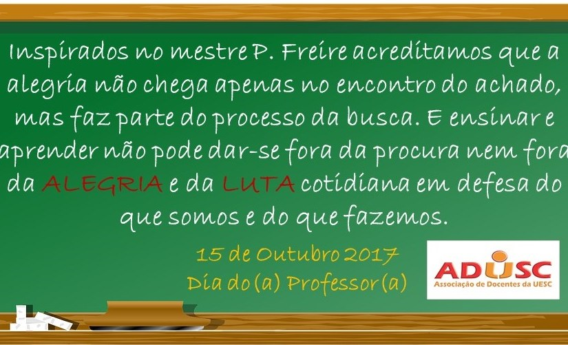 15 de outubro – Dia do(a) professor(a)