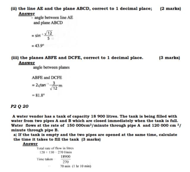 KCSE Mathematics Past Paper 2 2016: Free Tips 16