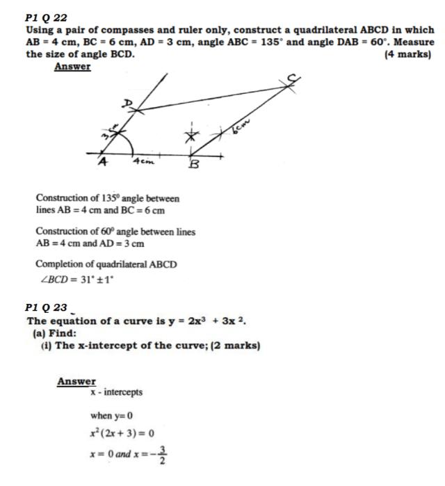 KCSE Mathematics Past Paper 1 2016: Free Revision 17