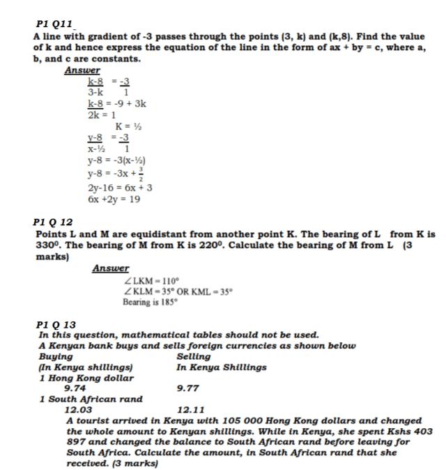KCSE Mathematics Past Paper 1 2016: Free Revision 7