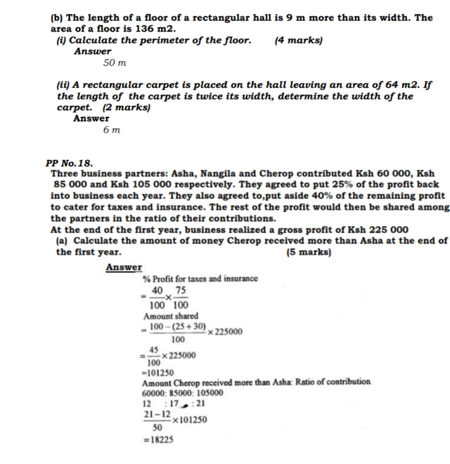 KCSE Mathematics Past Paper 1 2016: Free Revision 11
