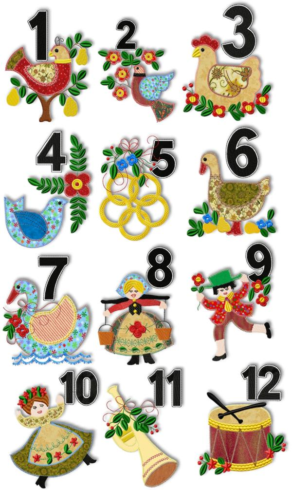 Christmas Applique Embroidery Designs