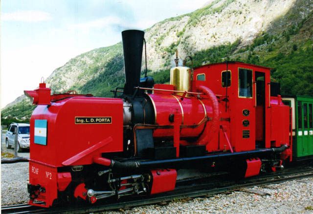 """FACF Garratt No 2 """"Ing L.D. Porta"""" Click here for further information about modifications to this loco."""