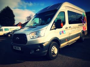 Ford Transit Minibus Hire Front Side View