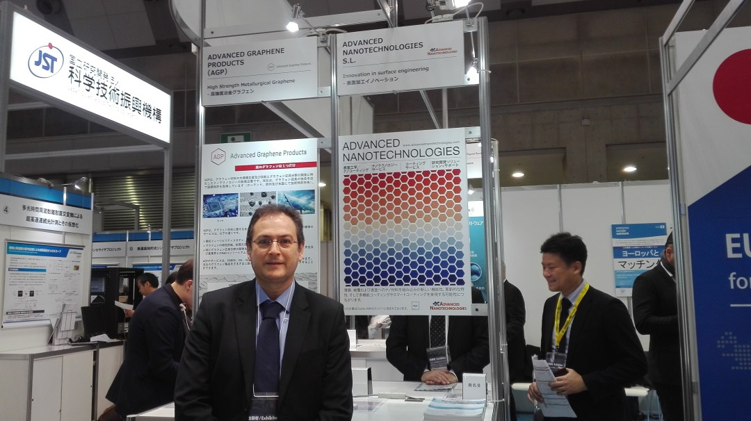 Mr. Antonio Onteniente, CEO of Advanced Nanotechnologies in the International Nanotechnology Exhibition & Conference Nano tech 2019 in Tokyo, Japan.