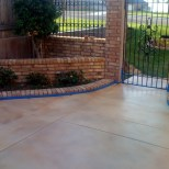 martColor decorative concrete stain: Milk Chocolate (SC-119), Grapefruit (SC-117), and/or Juneberry (SC-110).