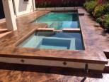 Stamped Pool Deck: - Sierra Solid Base - Seasoned Earth TiqueWash