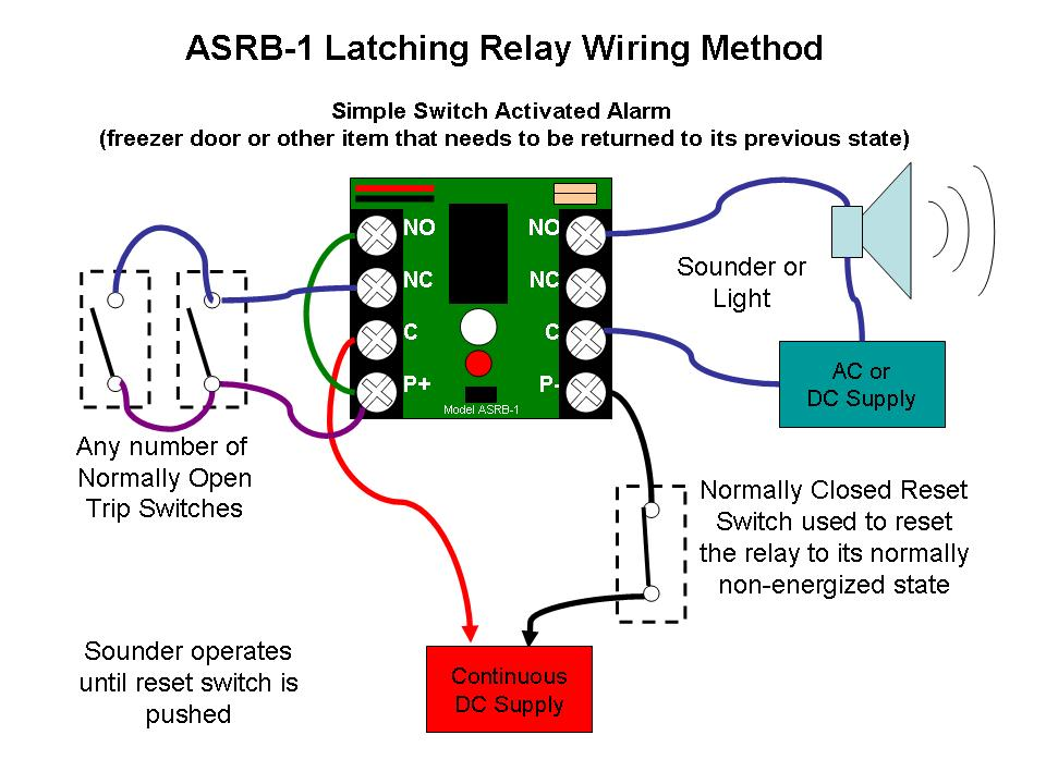 Latching Relay Wiring Diagram - Facbooik.com