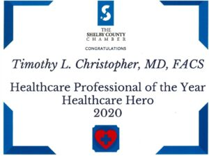 Timothy Christopher Healthcare Hero Award