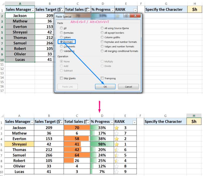 Conditional Formatting_Identifying Text Cells that Begin with Specified Letters_2