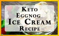 Are you Keto? Still love Ice-cream? Ready to get your holiday on? Check out this easy keto eggnog icecream recipe. This easy low carb ice cream recipe with the flavor of Keto Eggnog is going to be a hit at your Ketogenic Holiday Celebrations. Low Carb | No Sugar | Gluten Free | High Fat | Yummy. Let the Keto Christmas Celebrations begin! #KetoRecipe @LowCarbRecipe