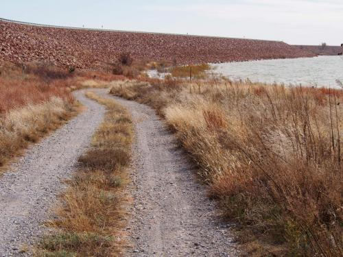 Gravel road in Foss Park