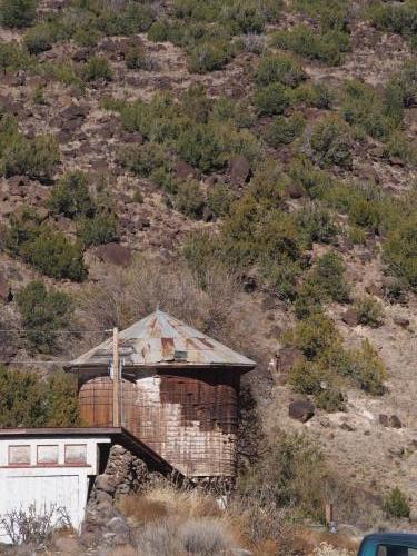 Quartzite Rio Grande River - Old water tower