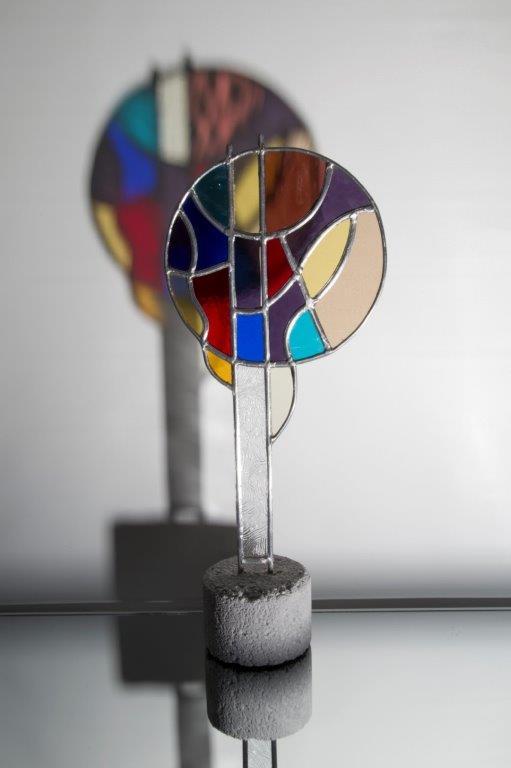Glas in lood sculptuur