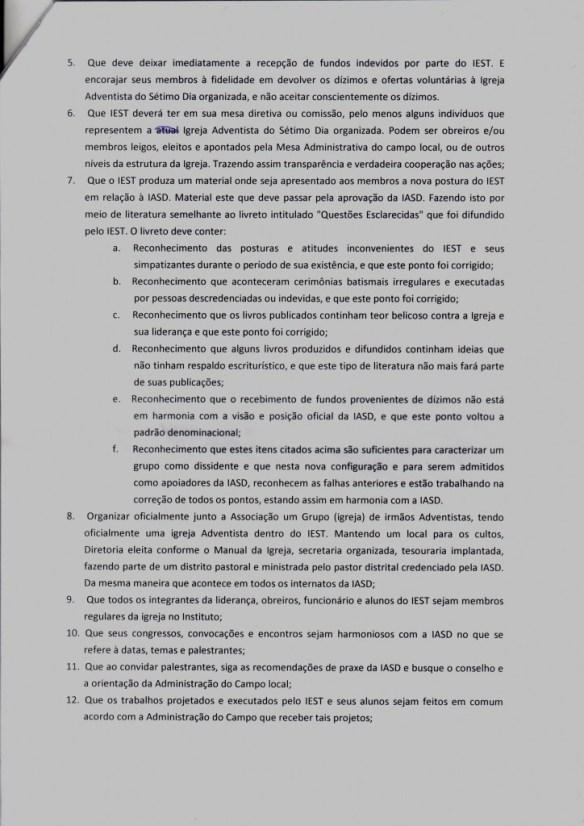 Ministério independente do IEST sucumbe à Organização. Conheça as condições impostas pela IASD!