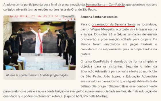 """Resultados da educação católico-adventista no evangelismo da """"Semana Santa"""" na IASD"""