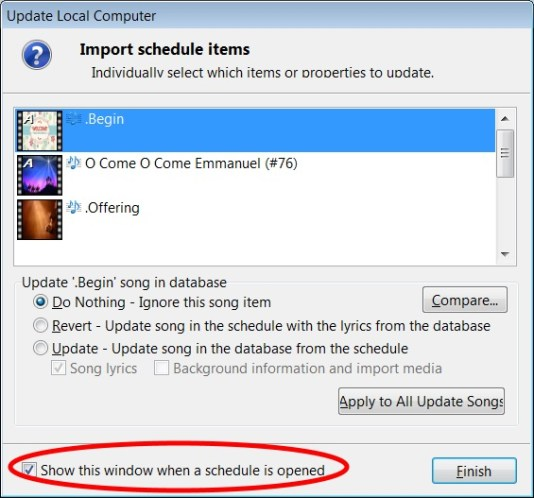 How to add SDA hymns into EasyWorship database