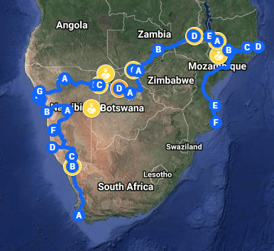 putfoot rally route