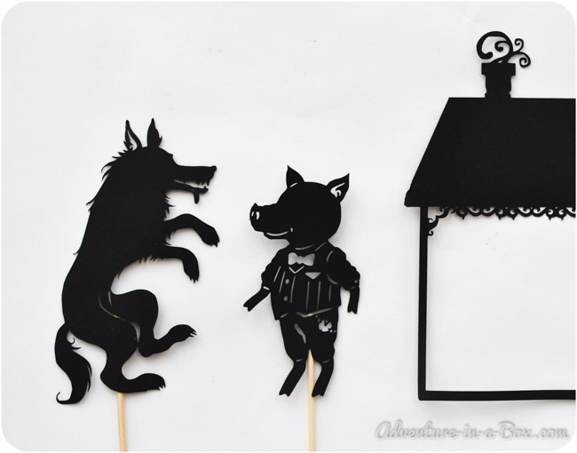 Three Little Pig Shadow Puppet Printables Adventure In A Box