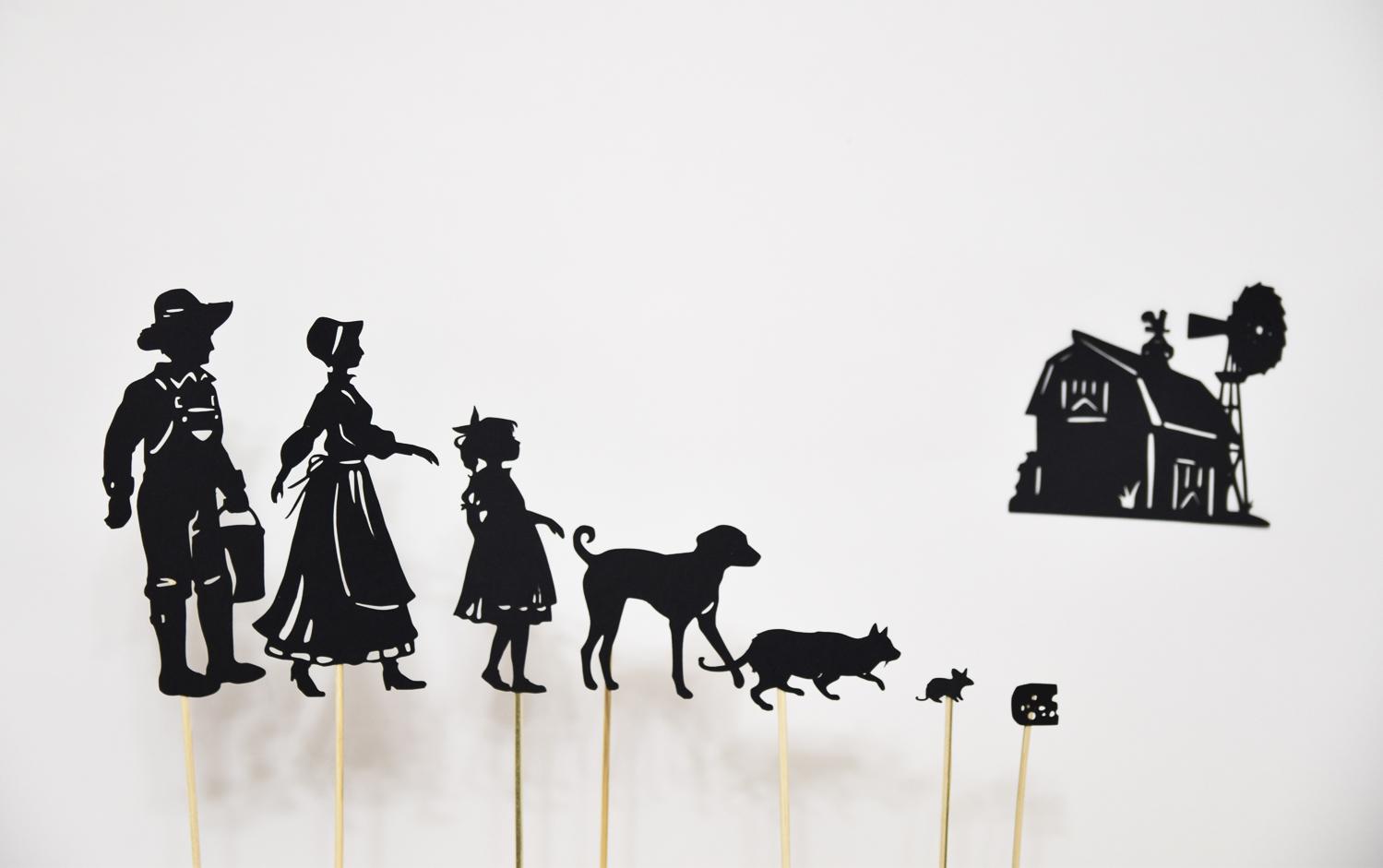 Farm Animals Shadow Puppets For Children