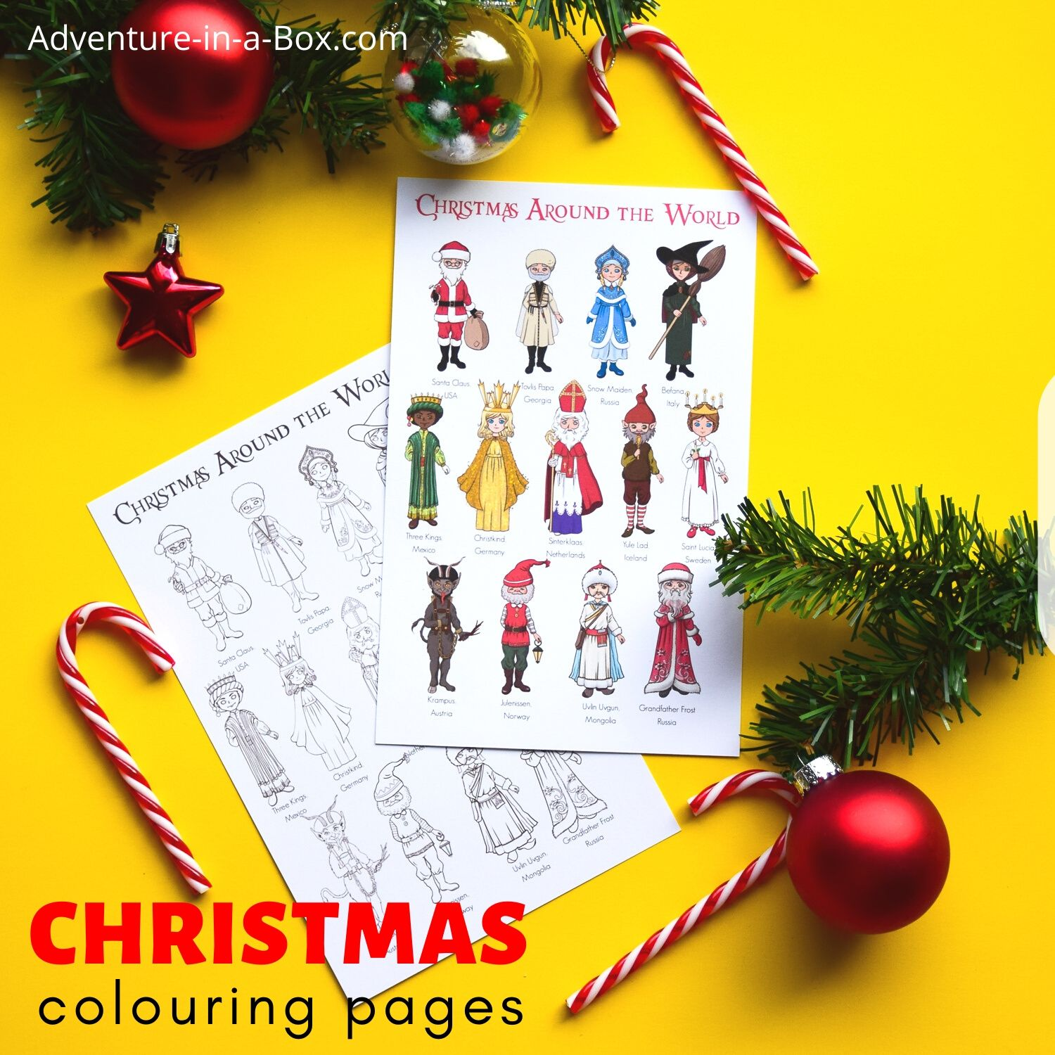 Christmas Around The World Posters Amp Colouring Pages