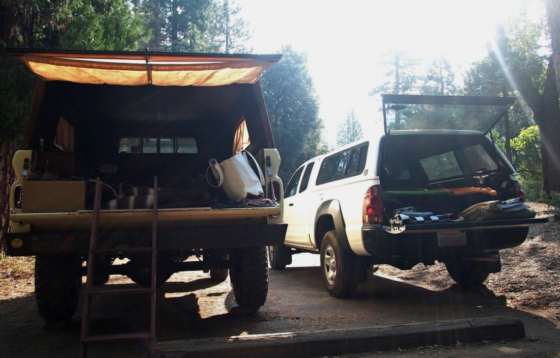 the truck bed living room