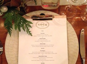 Toronto Food:  TOCA Ritz-Carlton Holiday Dinner