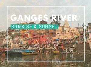 Ganges River at Sunrise and Sunset