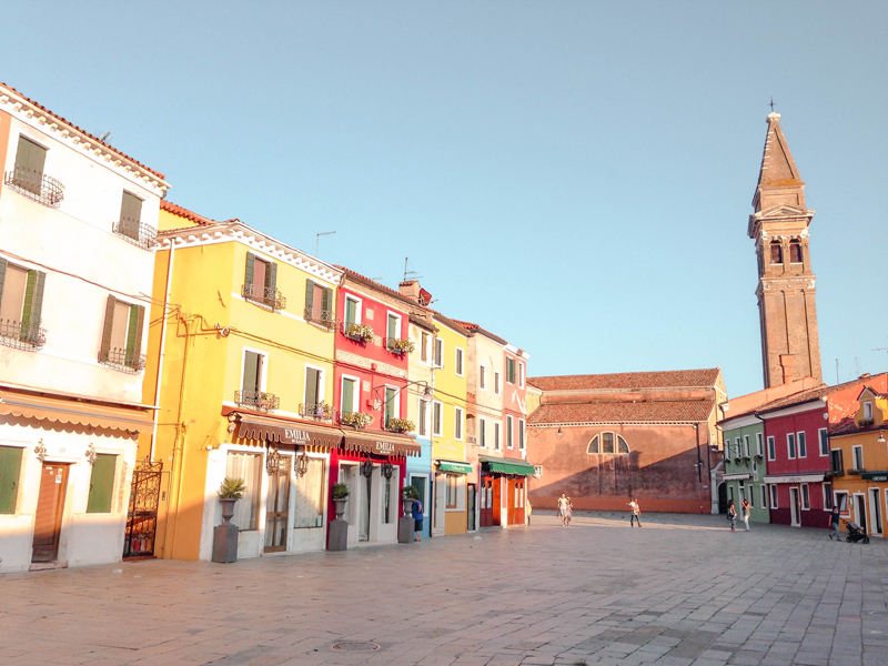 Visiting Burano Leaning Tower