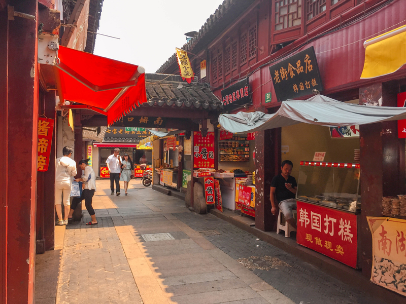 Qibao Water Town Food Stalls
