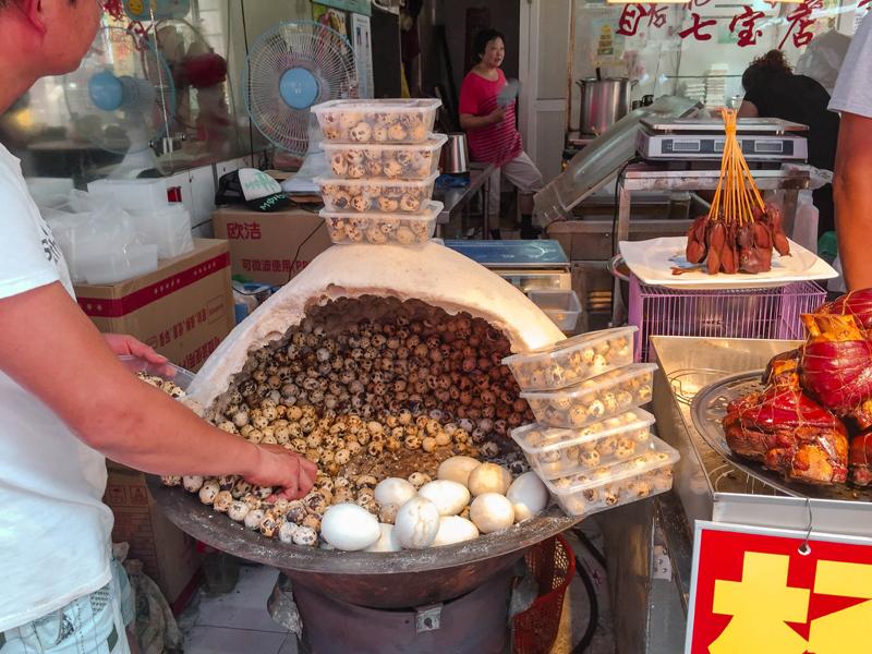 Qibao Water Town quail eggs