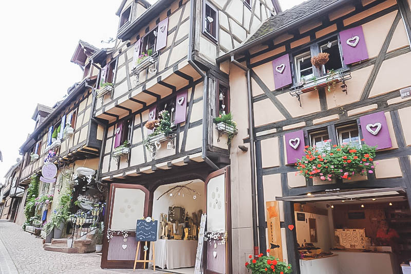Vibrant Palette of Alsace_Riquewihr Half Timber Houses