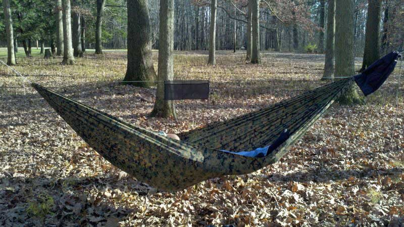 Even a light hammock should be full sized and functional. The 12 oz, $75 Dream Hammock FreeBird is a full 11 feet long and 60 inches wide.