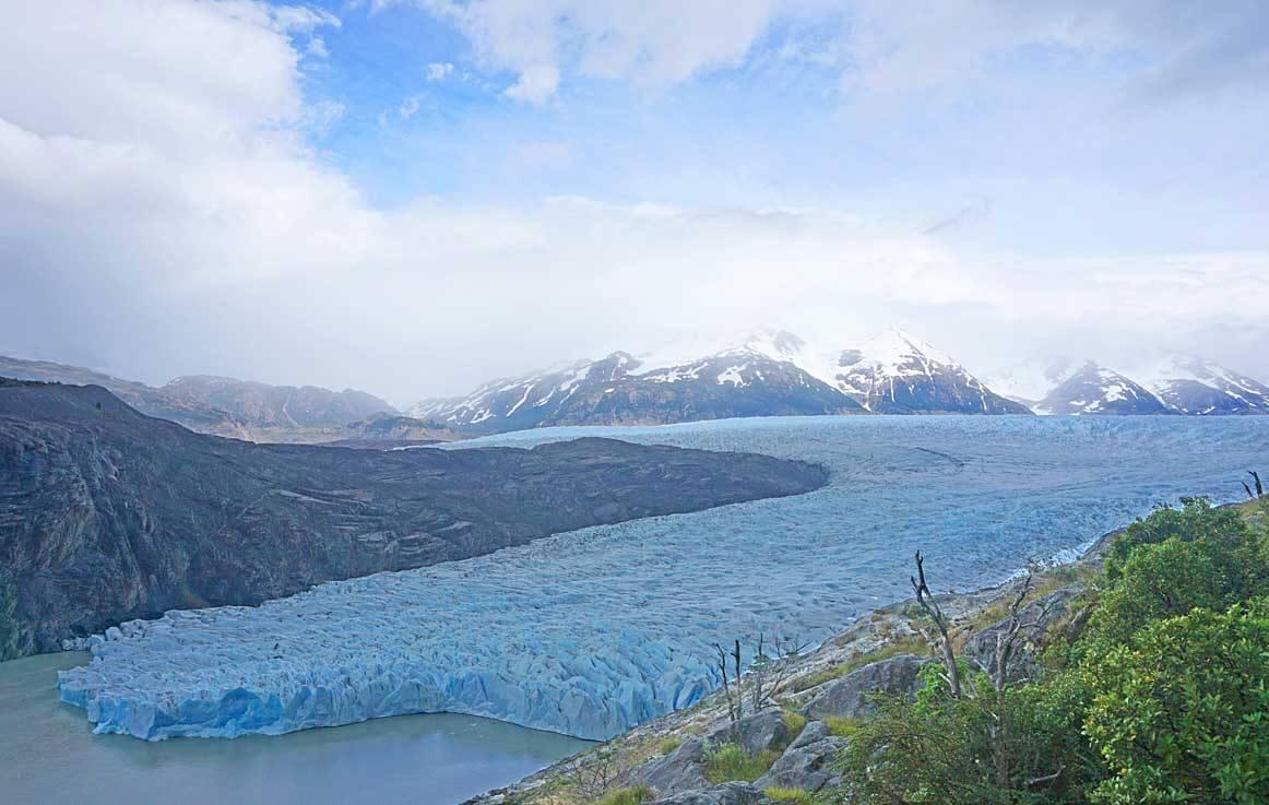 The massive Glacier Grey as it feeds into Lago Grey.