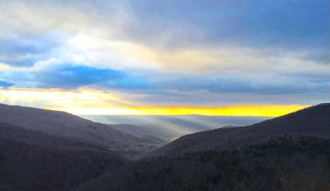 Another stunning sunrise on the Blue Ridge