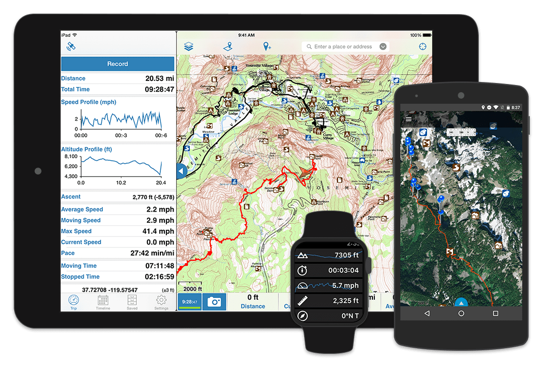 Gaia GPS Smartphone App - Best Lightweight Backpacking Gear