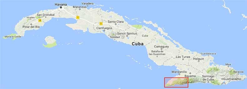 Highlighted with world map of cuba world map with cuba marked worlds newest long trail cubas ruta de la revolucin on world map gumiabroncs Image collections