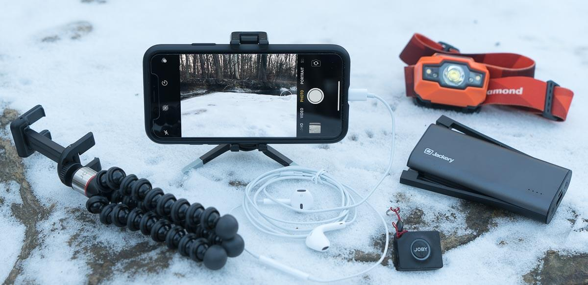 smartphone hiking photography