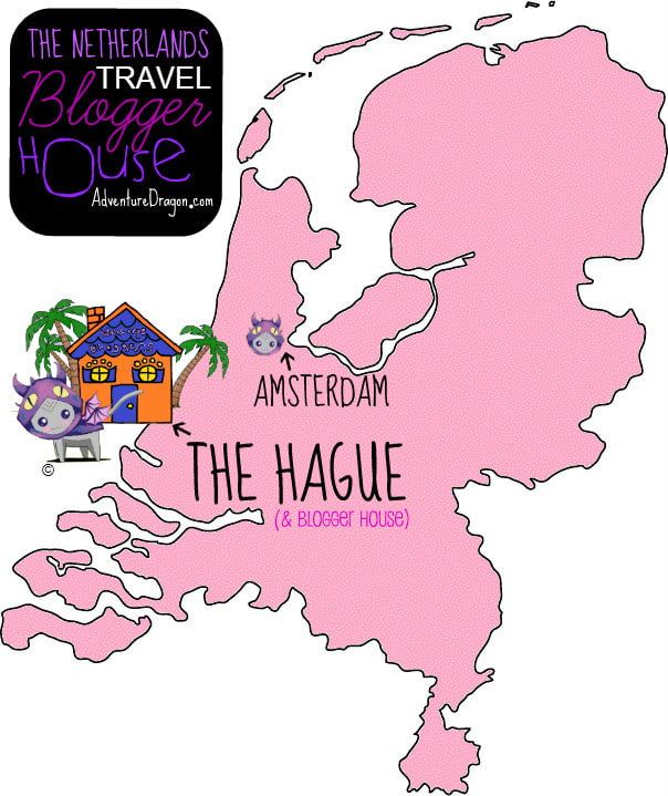 beach house for travel bloggers Netherlands map