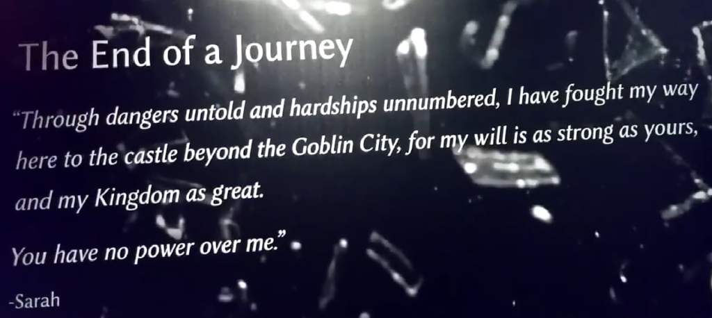 Labyrinth exhibit You have no power over me quote