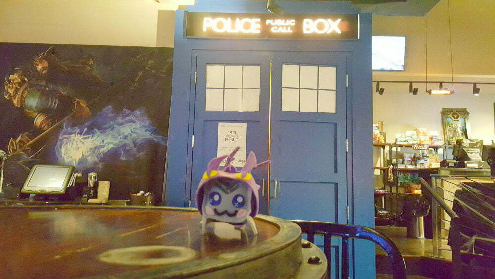 Atlanta Tardis Bar Doctor Who Cafes Battle and Brew TARDIS bathroom