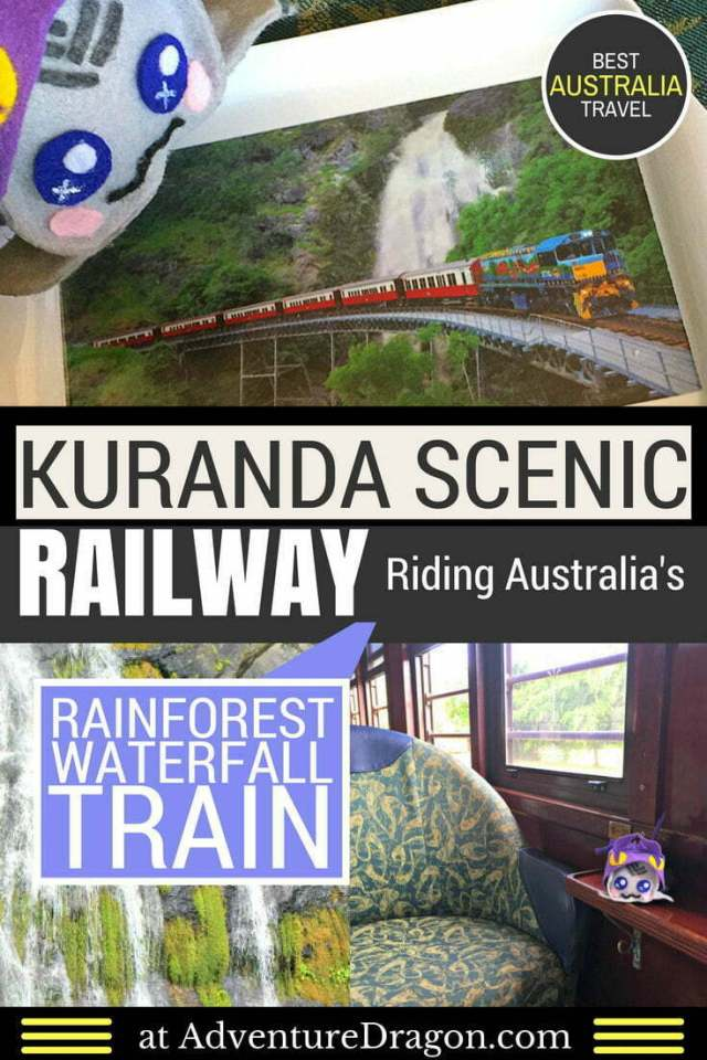 Kuranda scenic railway Australia rainforest waterfall train