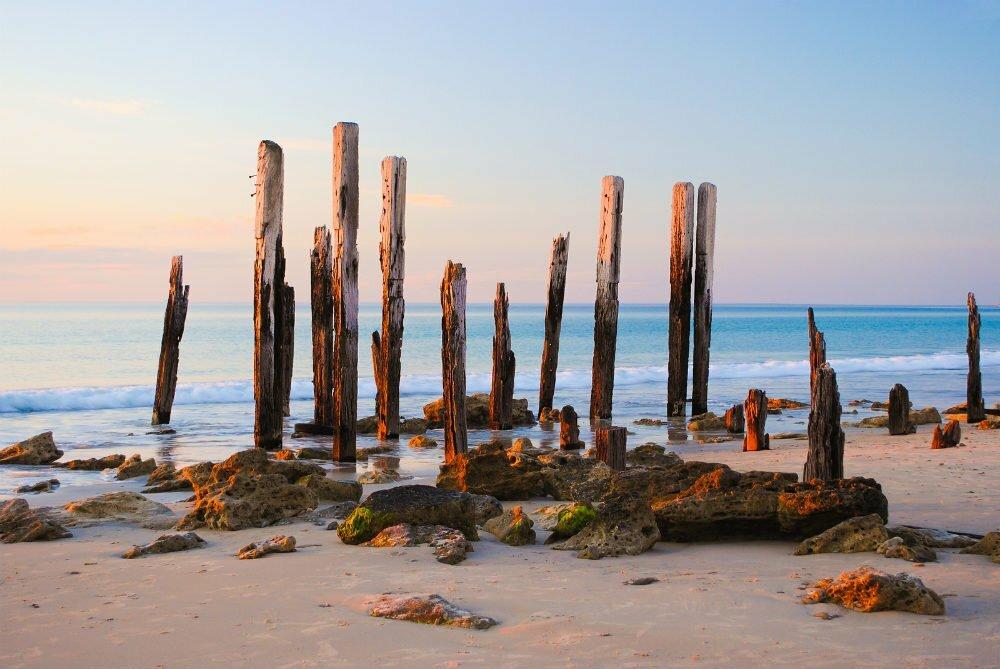 Порт-Уиллунга руины пристани-красивые места в Австралии