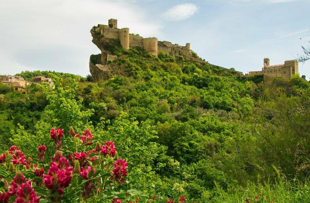 Roccascalegna Castle Abruzzo Italy Cliff Castle