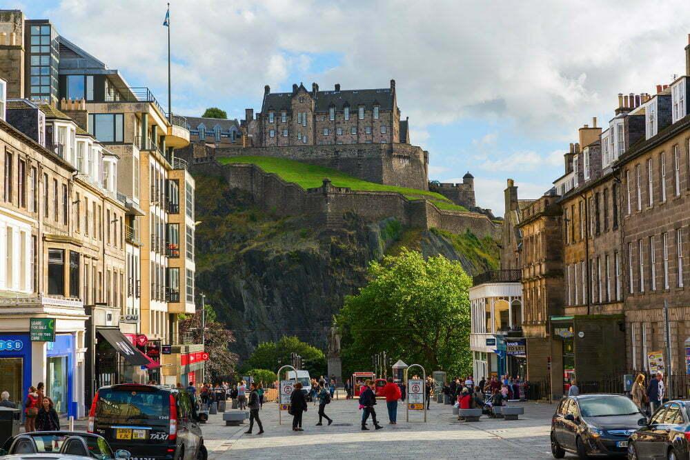 Edinburgh Castle Scotland Castles on Cliffs